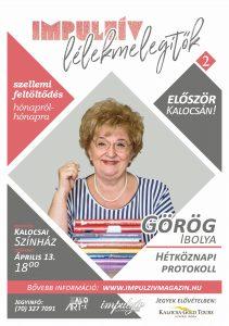 Lélekmelegítők előadás-sorozat Görög Ibolya