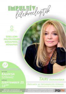 Lélekmelegítők előadás-sorozat  Tari Annamária