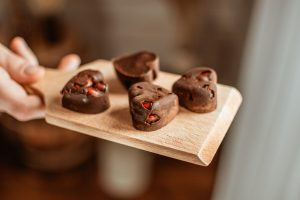 gránátalmás csokiszívek recept Impulzív Magazin